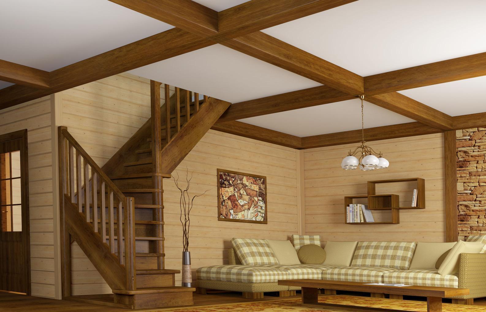 Отделка деревянного дома внутри фото второй этаж смену