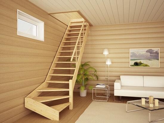 Как построить лестницу в доме на второй этаж своими руками 62